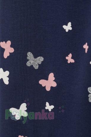 H&M Леггинсы для девочек синие с бабочками - Картинка 2