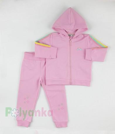 Wanex Спортивный костюм детский розовый с радугой - Картинка 4