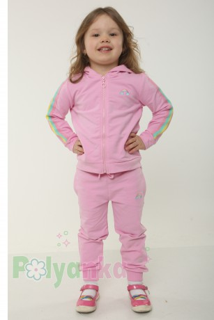 Wanex Спортивный костюм детский розовый с радугой - Картинка 1