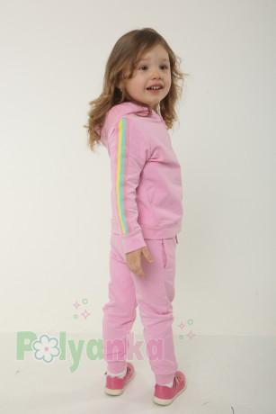 Wanex Спортивный костюм детский розовый с радугой - Картинка 3