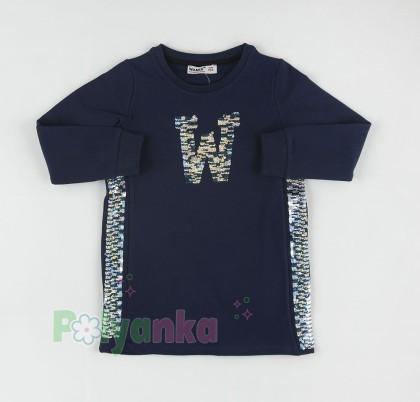 Wanex Костюм для девочки с начёсом Wanex синий-чёрный - Картинка 5