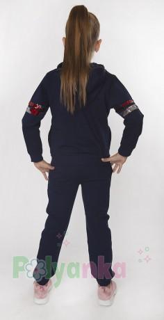 Wanex Спортивный костюм для девочки синий с пайетками-перевёртышами - Картинка 3