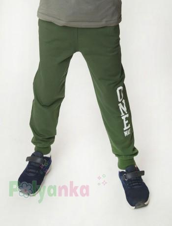 """Wanex Спортивные штаны для мальчика зелёные """"One Wax"""" - Картинка 1"""