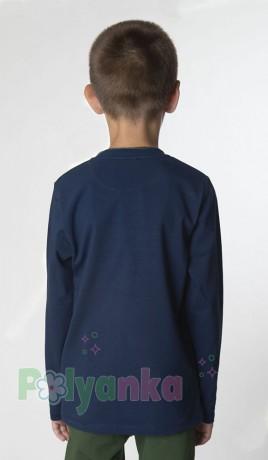 Wanex Футболка с длинным рукавом для мальчика синяя с принтом  - Картинка 2