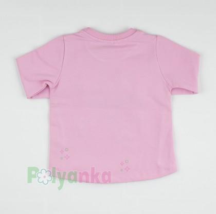 Wanex Свитшот детский с аппликацией  и рюшами розовый - Картинка 2