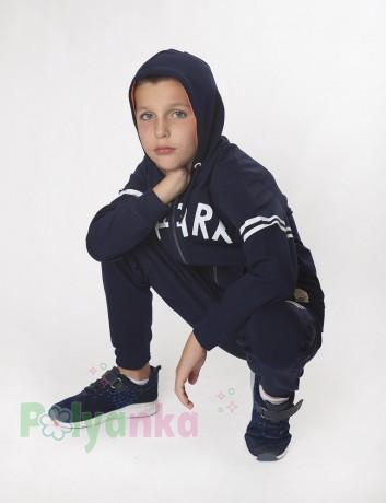 """Wanex Спортивный костюм для мальчика """"Shark"""" синий с капюшоном - Картинка 2"""