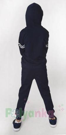 """Wanex Спортивный костюм для мальчика """"Shark"""" синий с капюшоном - Картинка 3"""