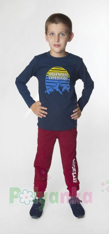 Wanex Спортивные штаны детские бордовые - Картинка 2