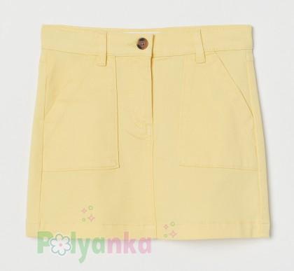 H&M Юбка для девочки жёлтая - Картинка 1