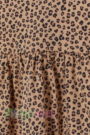 H&M Платье с длинным рукавом для девочки леопардовое - Картинка 2