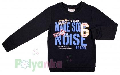 "Wanex Свитшот для мальчика ""Make sone noise"" темно-серый  - Картинка 2"