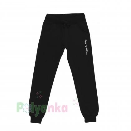 Wanex Спортивный костюм для девочки малиновое худи и чёрные спортивные штаны  - Картинка 4