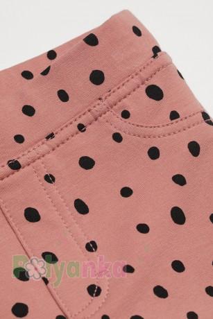 H&M Леггинсы для девочки нежно розовые в горох - Картинка 2