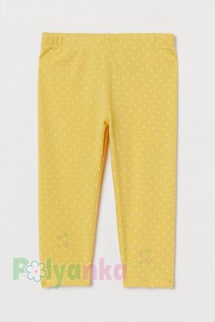 H&M Капри для девочки жёлтые в горох - Картинка 1