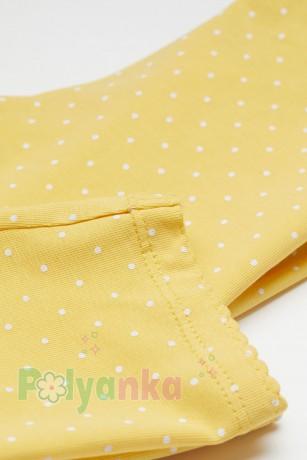 H&M Капри для девочки жёлтые в горох - Картинка 2
