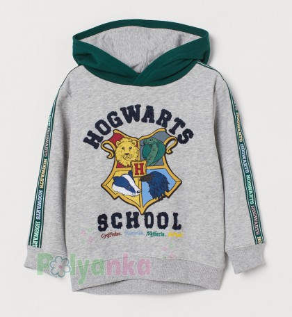 "H&M Худи для мальчика ""Harry Potter"" серый  - Картинка 1"