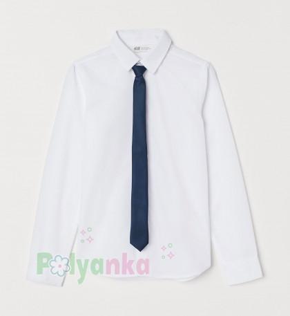 H&M Рубашка для мальчика белая с галстуком - Картинка 1