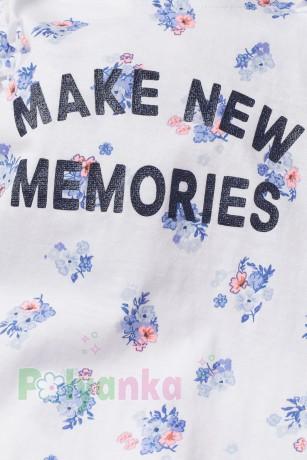 H&M Майка для девочки белая с цветочками - Картинка 2