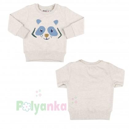 Wanex Костюм для мальчика бежевый свитшот с мишкой и синие штаны - Картинка 10
