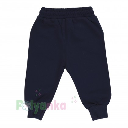 Wanex Костюм для мальчика бежевый свитшот с мишкой и синие штаны - Картинка 13