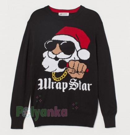 """H&M Свитер для мальчика чёрный """"Wrap Star"""" - Картинка 1"""