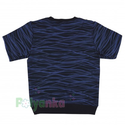 Wanex Спортивный костюм для мальчика черно-синий в полоску свитшот и черные штаны - Картинка 4