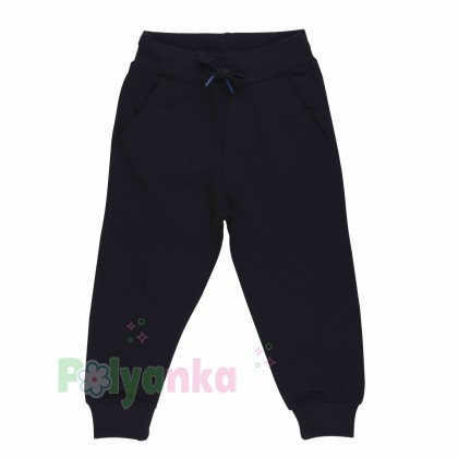 Wanex Спортивный костюм для мальчика черно-синий в полоску свитшот и черные штаны - Картинка 5