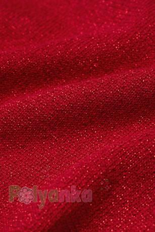 H&M Футболка с длинным рукавом для девочки красная с бантиком - Картинка 2