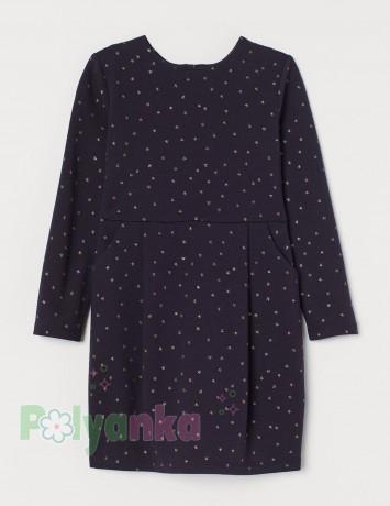 """H&M Платье детское тёмно-синее """"Звёздочки"""" - Картинка 1"""