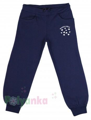 Wanex Спортивный костюм для девочки серая олимпийка в синий горох и синие спортивные штаны - Картинка 4