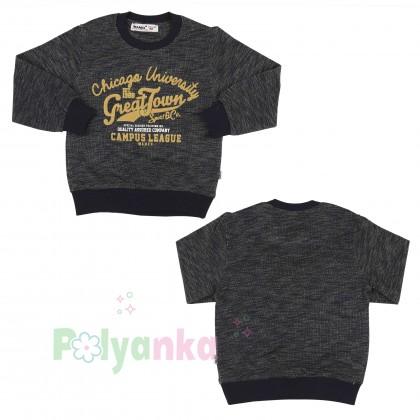 Wanex Спортивный костюм для мальчика серо-черный свитшот и штаны - Картинка 12