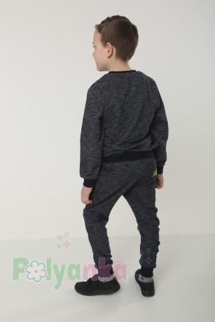 Wanex Спортивный костюм для мальчика серо-черный свитшот и штаны - Картинка 3