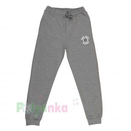 Wanex Спортивные штаны для мальчика серые с манжетами и карманами - Картинка 1