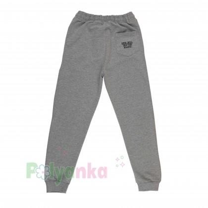 Wanex Спортивные штаны для мальчика серые с манжетами и карманами - Картинка 2
