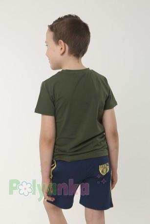 Wanex Футболка для мальчика темно-зелёная с пайетками-перевёртышами - Картинка 2