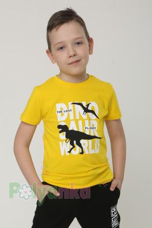 Wanex Футболка детская жёлтая с динозаврами - Картинка 1