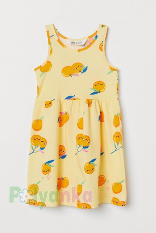 H&M Сарафан детский жёлтый с апельсинами - Картинка 1