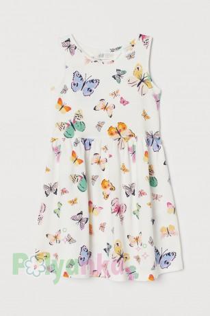 H&M Сарафан детский белый с бабочками (0870530042) - Картинка 1