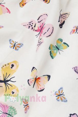 "H&M Сарафан для девочки ""Бабочки"" белый (0268) - Картинка 2"