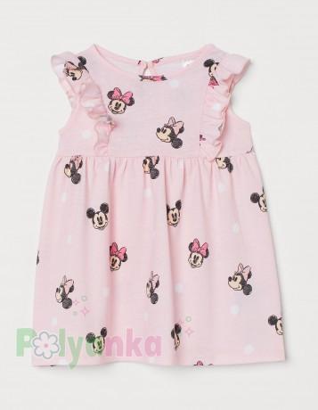 "H&M Летнее платье для девочки розовое ""Minnie Mouse"" - Картинка 1"