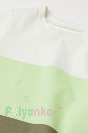 H&M Футболка для мальчика бело-зелёная - Картинка 2