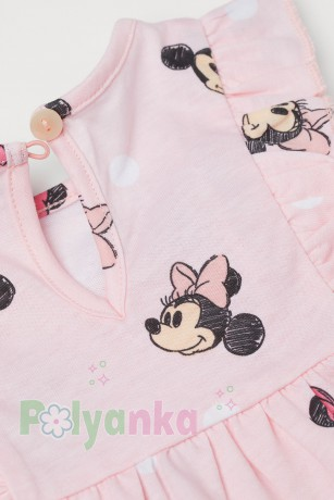 "H&M Летнее платье детское розовое ""Minnie Mouse"" 0931372001 - Картинка 2"
