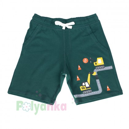 H&M Шорты для мальчика зеленые с эскалатором - Картинка 1