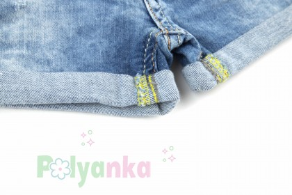 Wanex Шорты для девочки джинсовые с кошкой - Картинка 3