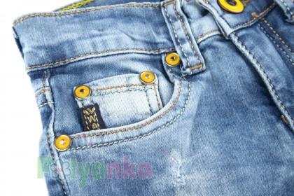 Wanex Шорты для девочки джинсовые с кошкой - Картинка 4