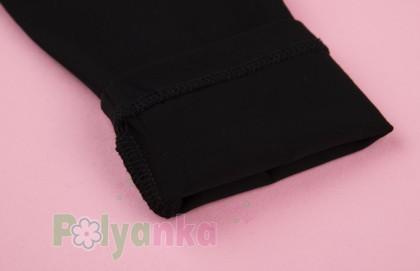 Wanex Костюм для девочки белый лонгслив с принтом и чёрные леггинсы - Картинка 5