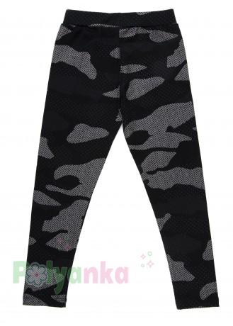 Wanex Леггинсы для девочки милитари чёрно-серые - Картинка 2