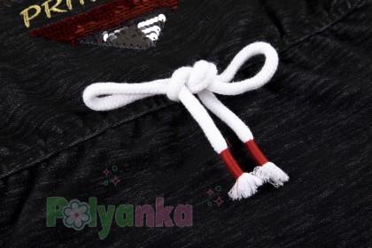 Wanex Платье с длинным рукавом для девочки черное с сердцем и пайетками-перевёртышами - Картинка 5