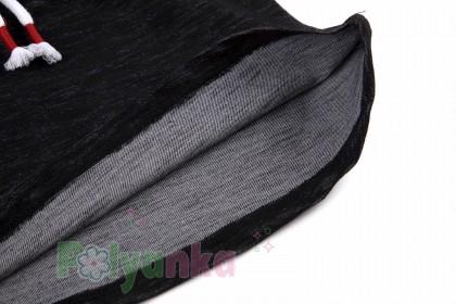 Wanex Платье с длинным рукавом для девочки черное с сердцем и пайетками-перевёртышами - Картинка 6