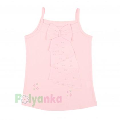 Breeze girls & boys Майка для девочки светло-розовая с бусинами - Картинка 1